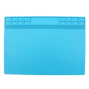 Soldering Station Mat Heat Insulation Silicone Pad Maintenance Platform for Phone Repair - Baby Blue