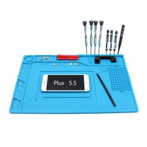 Heat Insulation Silicone Pad Soldering Station Mat Maintenance Platform for Phone Repair