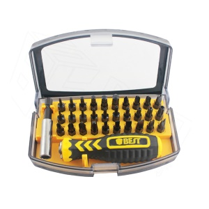 BEST BST-2166C 32 in 1 Interchangeable CR-V Bits Screwdriver Set Multipurpose Repair Tools Kit