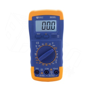 BEST BST-B830L LCD Display Digital Multimeter Handheld AC / DC Tester - Blue + Orange