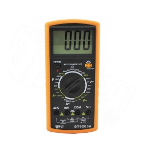 BEST BST-9205A LCD Digital Multimeter Handheld Measure Device - Black + Orange