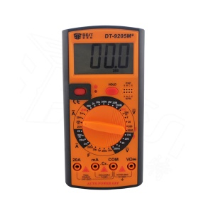 BEST BST-9205M+ LCD Display Digital Multimeter Handheld AC/DC Tester Device - Orange + Black