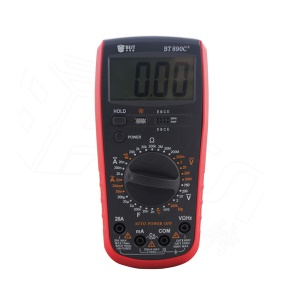 BEST BST-890C+ Modern Digital Multimeter AC/DC Voltage Current Resistance Diode Tester with Large LCD Screen