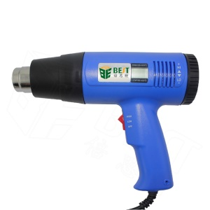 BST-8016 1600W Adjustable Temperature Display Electronic Hot Air Heat Gun for Crafts, Shrink Tubing, Repair - 110V / EU Plug