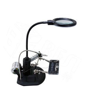 BEST BST-308L LED Lamp 2.5X/4X Magnifying Glass with Clips