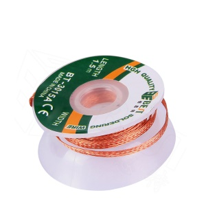 BEST BT-3015A 3mmx1.5m Copper Alloy Braided Soldering Desoldering Cable Wick