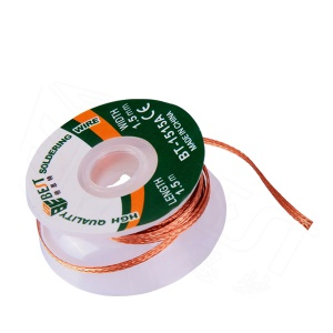 BEST BT-1515A 1.5mmx1.5m Copper Alloy Tin Removing Soldering Braided Wick Wire