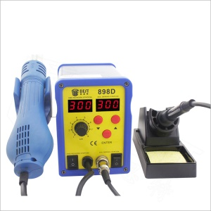 BEST BST-898D Dual LED Display Screen Hot Air Heat Gun and Soldering Iron Station for Soldering - 220V