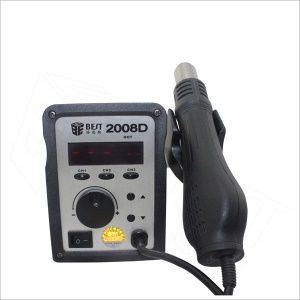 BEST BST-2008D 2 in 1 LCD Display Lead Free Spiral Hot Air Gun Soldering Station - 110V