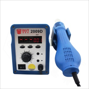 BEST BST-2009D 2-in-1 Lead Free LCD Display Spiral Hot Air Gun Soldering Station - 110V