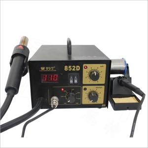 BEST BST-852D Single LED Displayer Soldering Station Hot Air Lead-Free Welding Iron - AC 220V