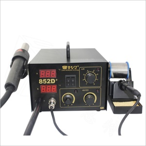 BEST BST-852D+ 2-in-1 Dual LED Displayer Leadfree Hot Air Gun Soldering Station - AC 220V