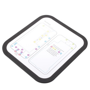Heat Insulation Repair Platform Mat for iPhone X with Magnetic Screw Section