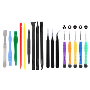 JF-8172 17-in-1 5 Screwdrivers Tweezers Pry Opening Tool Kit for iPhone Maintenance