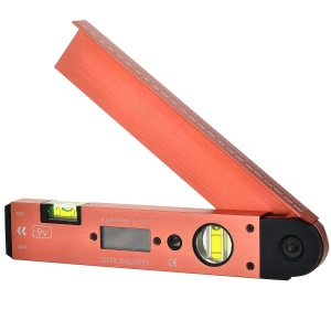 Portable Digital LCD Display Angle Meter with Spirit Level (0 to 185 Degree)