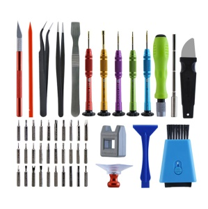 BEST BST-116 48 in 1 Multi-purpose Phone Tablet Repair Tool Set with Tweezers Magnetizer Spudger etc