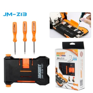 JAKEMY JM-Z13 4-in-1 PCB Repair Smartphone Holder + 3 Screwdrivers Repairing Tool Kit