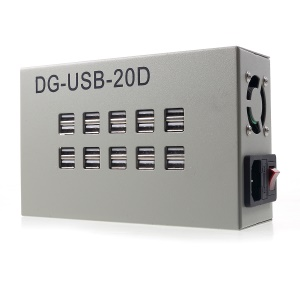 SDK DG-USB-20D 60W 12A Multi-functional Adapter with 20 USB Charging Ports  - EU Plug