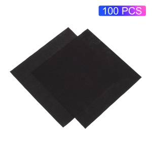 100Pcs/Set Anti-static Microfiber Cleaning Cloth for Phone Tablet Laptop Glasses - Black