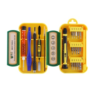BEST BST-8923 21Pcs Cell Phone Repair Kit Screwdriver Opening Pry Tool Set