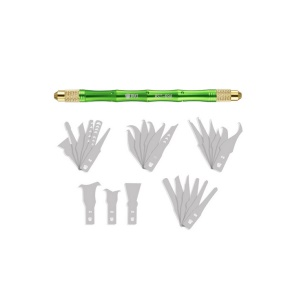 BEST 69A 28 in 1 Mobile Phone CPU Repair Knife Wood Carving Tools with 27pcs Blades