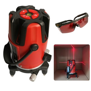 5 Lines 6 Points Laser Level Automatic Self Leveling 360 Degrees Rotation - US Plug