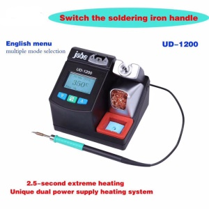 JABE UD-1200 Digital Lead-Free 2.5s Quick-heating Phone Repair Soldering Station Iron with Sleep Function (220V)