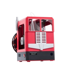 CREALITY CR-100 Mini 3D Printer with Auto Leveling and Fully Assembled - Red / US Plug