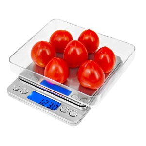 2000g/0.1g Digital Pocket Scale Jewelry Kitchen Food Scale with Back-lit LCD