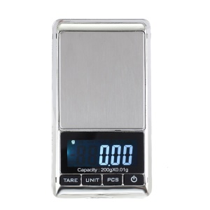 200g/0.01g Digital Jewelry Weighing Pocket Scale Backlight LCD Display