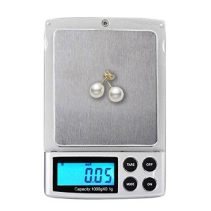 1000g/0.1g Digital Scale High Precision Jewelry Pocket Balance with Back-lit LCD