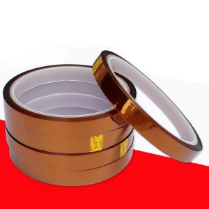 High Temperature Heat Resistant Gold Color Kapton Tape Polyimide Film Adhesive Tape (10mm x 33m)
