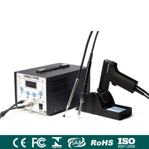 YIHUA 948D 3-In-1 High Frequency Soldering Station + Desoldering Gun + Vacuum Pick Up Pen - 110V Voltage / US Plug