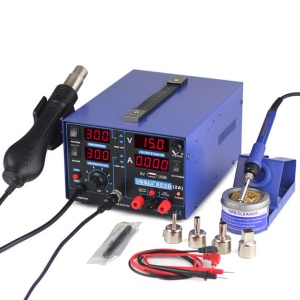 YIHUA 853D 2A USB 3-In-1 4-LED Soldering Rework Station Hot Air Gun with Power Supply - CN Plug / AC 220V