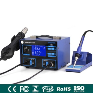 YIHUA 992D 2-in-1 Hot Air Gun + Soldering Iron Rework Station with PID Precision Temperature Control - 110V / CN Plug