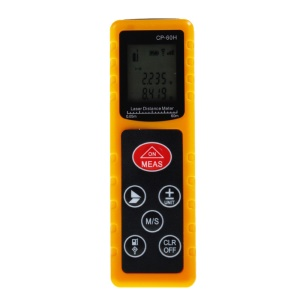 CP-60H 60M Handheld Digital Laser Distance Meter Mini Diastimeter for Construction Industries - Yellow