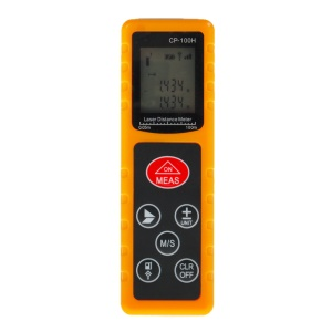 CP-100H 100M Handheld Digital Laser Distance Meter Measure Test Tool for Construction Industries - Yellow
