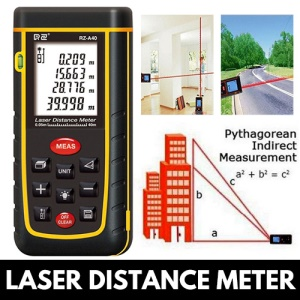 80M Laser Distance Meter Handheld Digital Range Finder Distance Meter Measure Test Tool - Black