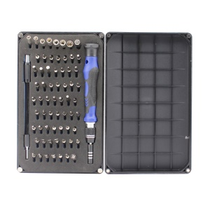 66-in-1 64 Bits Precision Screwdriver Tool Set JF-64B for iPhone Samsung Repairing Disassembly