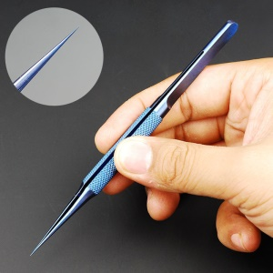 0.15mm Titanium Alloy Fingerprint Jump Wire Tweezer for Mobile Phone Mainboard Maintenance - Straight Tip