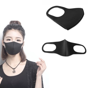 PM 2.5 Anti-dust Anti-fog Polyurethane Washable Mask - Black