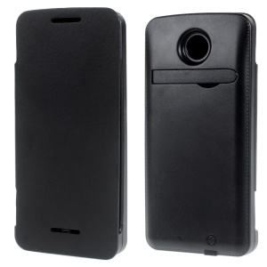 4200mAh Leather Backup Battery Charger Case for Motorola Nexus 6 XT1103 XT1100 - Black
