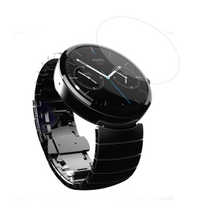 Tempered Glass Screen Guard Film for Motorola Moto 360 Smartwatch 0.3mm Arc Edge