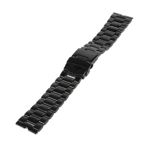 21mm Stainless Steel Watchband for Motorola Moto 360 Smart Watch - Black