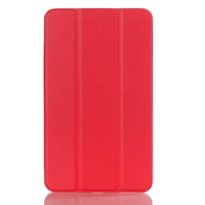 Tri-fold Stand Folio Leather Case with Auto Wake Sleep for Asus MeMo Pad 8 ME581C - Red