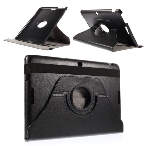 Swivel Stand Smart Leather Case for Asus Memo Pad 10 ME103K - Black