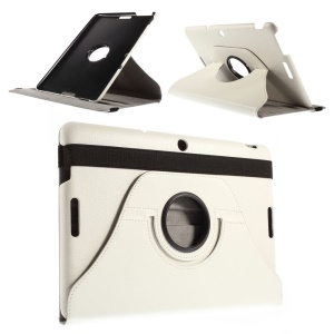 Smart Leather Case with Swivel Stand for Asus Memo Pad 10 ME103K - White