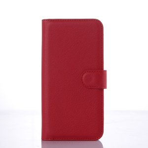 Litchi Skin Wallet Leather Stand Case Cover for Asus Zenfone 2 ZE500CL - Red