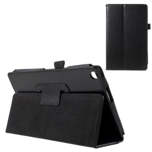 Lychee Texture Stand Leather Cover for Asus ZenPad 8.0 Z380C Z380KL - Black