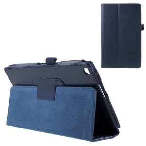 For Asus ZenPad 8.0 Z380C Z380KL Lychee Stand Leather Protective Case - Dark Blue